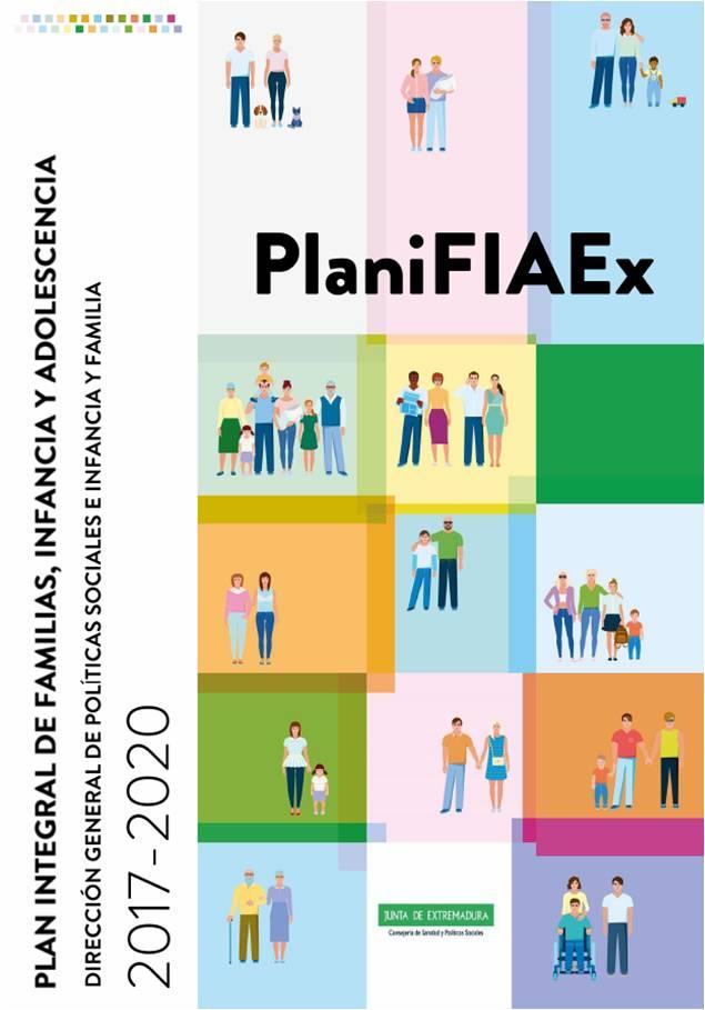 Cartel del Plan integral de familias, infancia y adolescencia 2017-2020