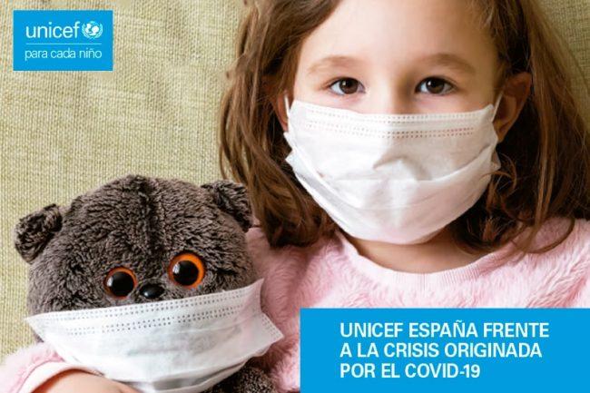 UNICEF España frente a la crisis originada por el Covid-19
