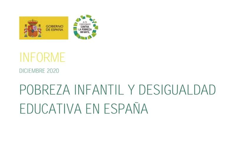 Pobreza infantil y desigualdad educativa en España